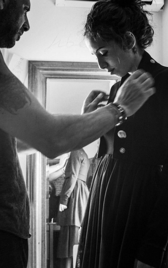 Elio fronterrè stilista siciliano  e alice fronterrè