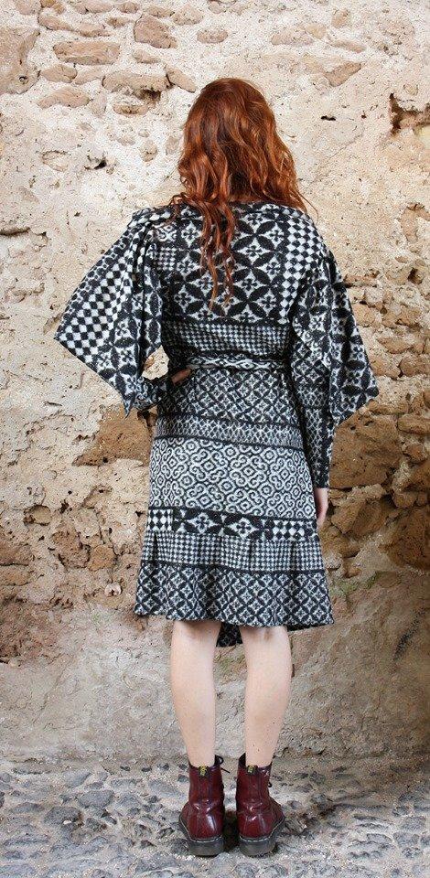 Abito lana modello vestaglia Elio Fronterrè stilista italiano siciliano marzamemi2