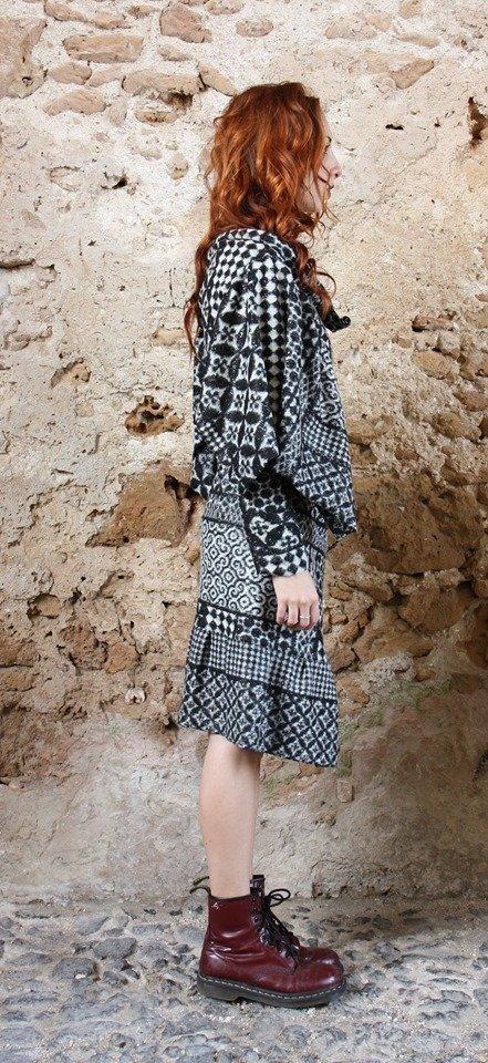 Abito lana modello vestaglia Elio Fronterrè stilista italiano siciliano marzamemi3