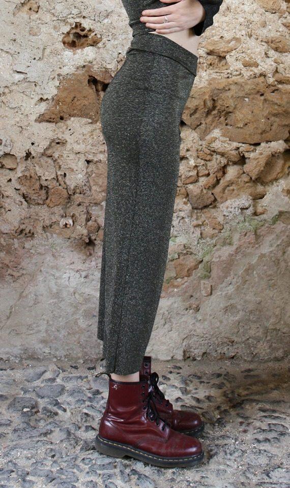 Panta lurex verde Elio Fronterrè stilista italiano siciliano marzamemi3