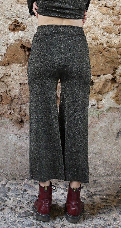 Panta lurex verde Elio Fronterrè stilista italiano siciliano marzamemi5