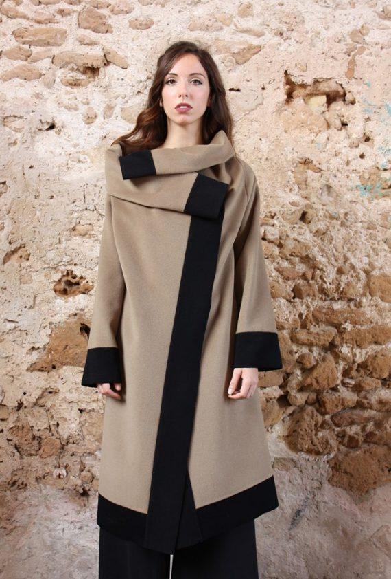 Cappotto Cappotto lungo color cammello collezione autunno inverno 2019 elio fronterre marzamemi sicilia2