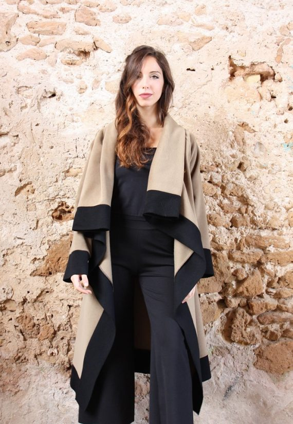 Cappotto Cappotto lungo color cammello collezione autunno inverno 2019 elio fronterre marzamemi sicilia3