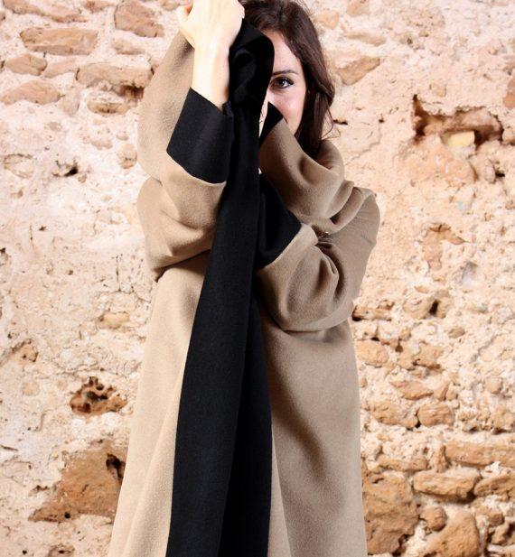 Cappotto Cappotto lungo color cammello collezione autunno inverno 2019 elio fronterre marzamemi sicilia4