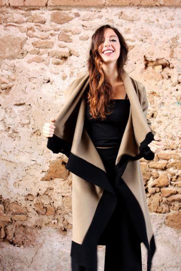 Cappotto Cappotto lungo color cammello  collezione autunno inverno 2019 elio fronterre marzamemi sicilia5