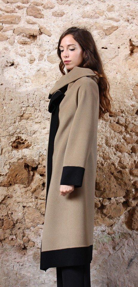Cappotto Cappotto lungo color cammello collezione autunno inverno 2019 elio fronterre marzamemi sicilia6