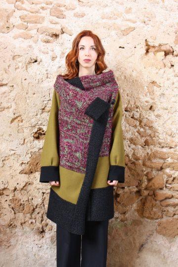 Cappotto Rosalurex Verdeacido nero collezione autunno inverno 2019 elio fronterre marzamemi sicilia2