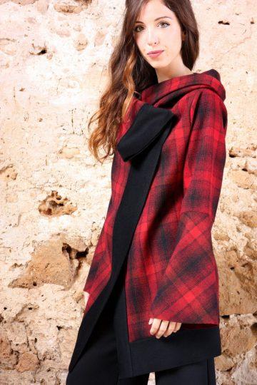 Giacca Quadroni rossi collezione autunno inverno 2019 elio fronterre marzamemi sicilia2