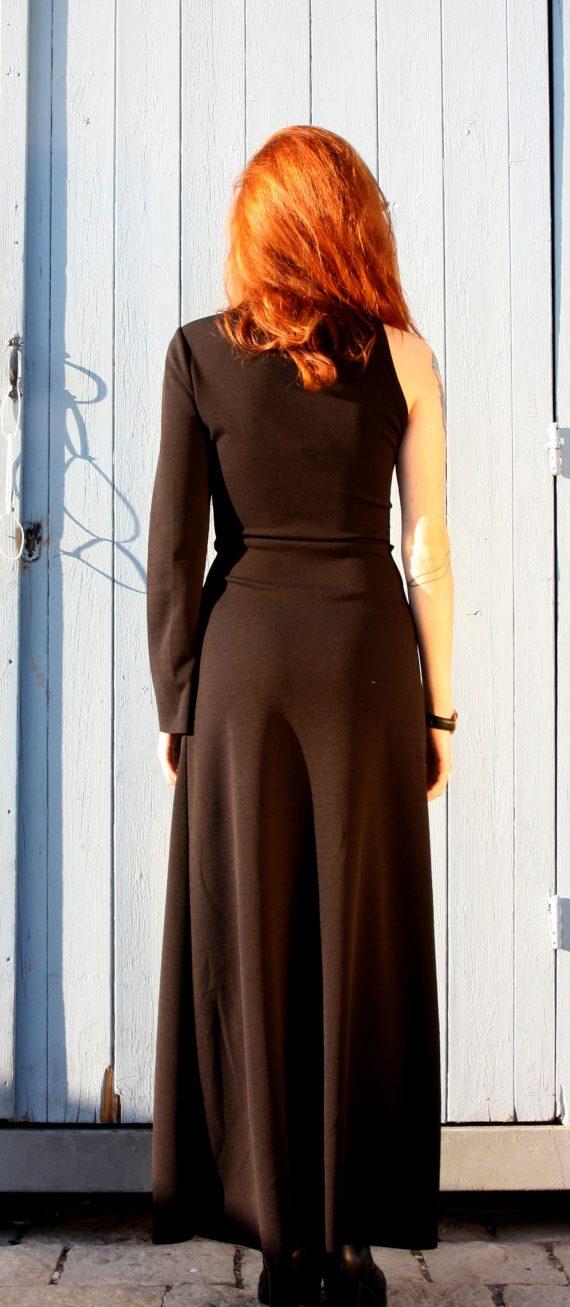 Art F37 abito lungo nero con spacco1 scaled