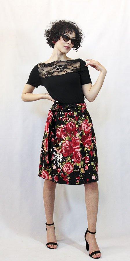 V72 Gonna rose rosse fiocco Elio Fronterrè collezione primavera estate 2021 via con me marzamemi sicilia sicily 2 1